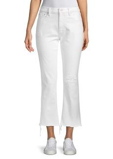 Ralph Lauren Chrystie Kick-Flare Cropped Jeans