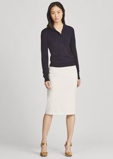 Ralph Lauren Cindy Stretch Wool Skirt