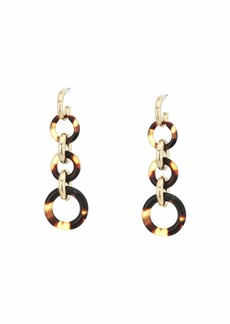 Ralph Lauren Circle Line Drop Earrings
