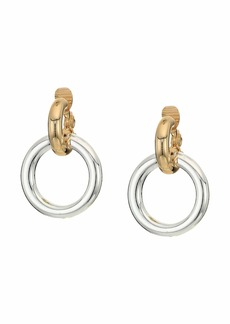 Ralph Lauren Circle Link Drop Earrings-Clip