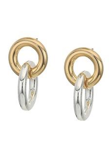 Ralph Lauren Circle Post Link Drop Earrings