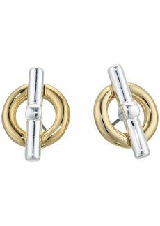 Ralph Lauren Circle Stud Earrings