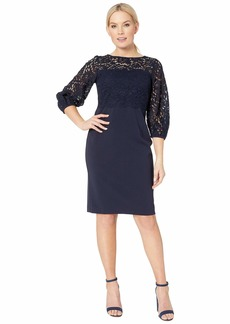 Ralph Lauren Claire Luxe Tech Crepe Dress