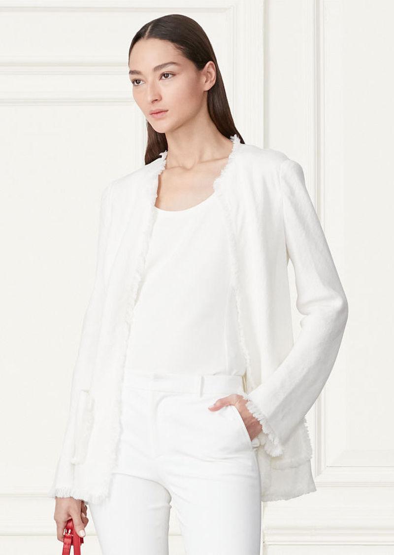 Ralph Lauren Clarice Fringed Linen Jacket