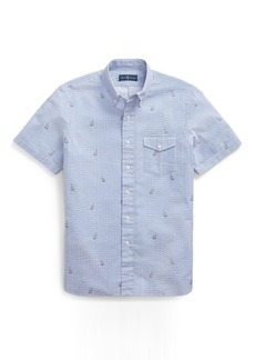 Ralph Lauren Classic Fit Boat-Print Shirt