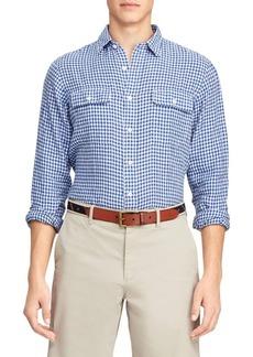 Ralph Lauren Classic-Fit Gingham Linen Shirt