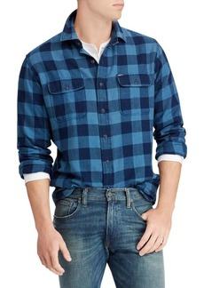 Ralph Lauren Classic-Fit Indigo Checker Shirt