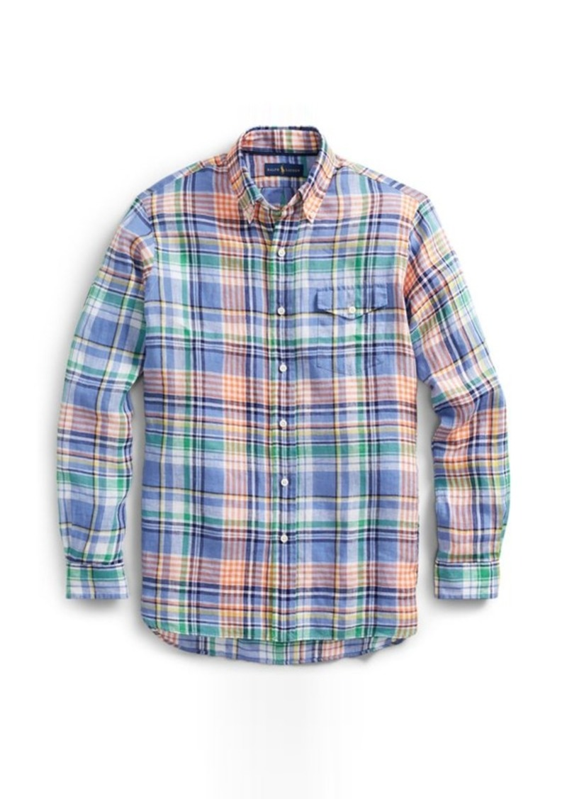 133eb281 Ralph Lauren Classic Fit Plaid Linen Shirt | Casual Shirts