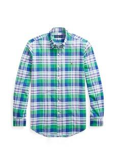 Ralph Lauren Classic Fit Plaid Oxford Shirt