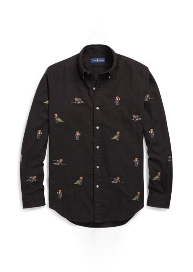 Ralph Lauren Classic Fit Polo Bear Shirt Casual Shirts