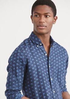 Ralph Lauren Classic Fit Print Linen Shirt