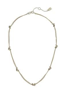 """Ralph Lauren Classic Metal Knots 17"""" Station Necklace"""