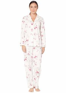 Ralph Lauren Classic Sateen Long Sleeve Notch Collar Long Pants Pajama Set