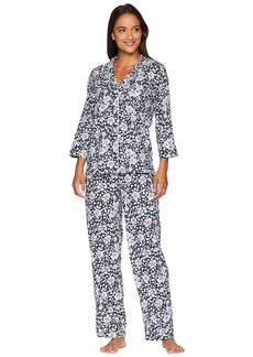 Ralph Lauren Classic Woven 3/4 Sleeve Pointed Notch Collar Pajama Set