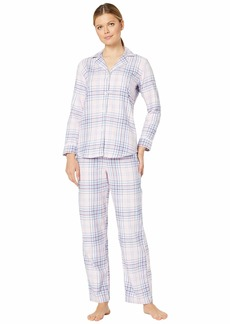 Ralph Lauren Classic Wovens Long Sleeve Pointed Notch Collar Long Pants Pajama Set