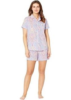 Ralph Lauren Classic Wovens Short Sleeve His Shirt Boxer Pajama Set