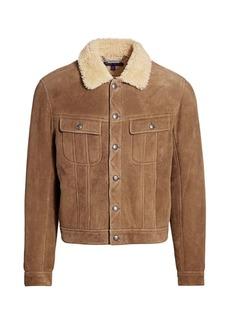 Ralph Lauren Clifton Shearling Collar Trucker Jacket