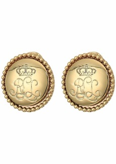 Ralph Lauren Clip Logo Earrings
