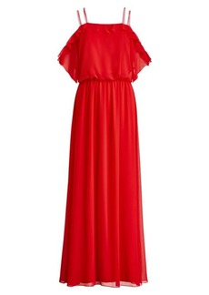 Ralph Lauren Cold-Shoulder Maxidress