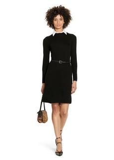 Ralph Lauren Collared Wool Sweater Dress
