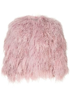 Ralph Lauren collarless fur jacket