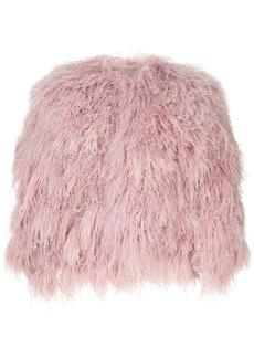 Ralph Lauren collarless fur jacket