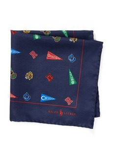 Ralph Lauren Collegiate Silk Pocket Square