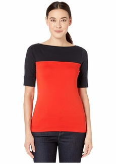 Ralph Lauren Color Block Boat Neck Top