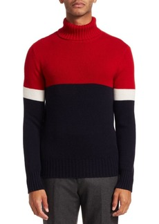 Ralph Lauren Color Block Cashmere Turtleneck