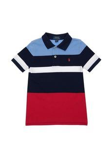 Ralph Lauren Color Block Cotton Piqué Polo