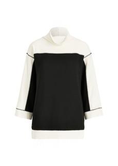 Ralph Lauren Color-Block Mockneck Pullover