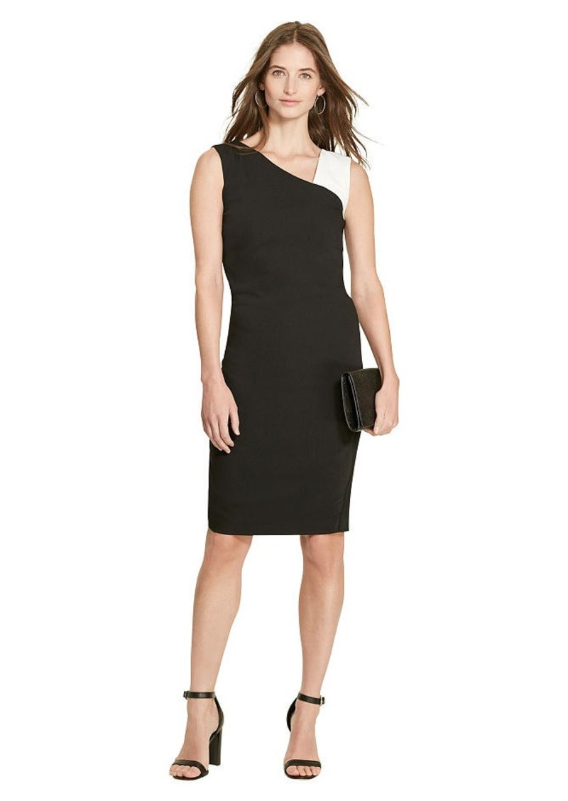 Ralph Lauren Color-Blocked Crepe Dress