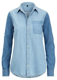Ralph Lauren Color-Blocked Denim Shirt