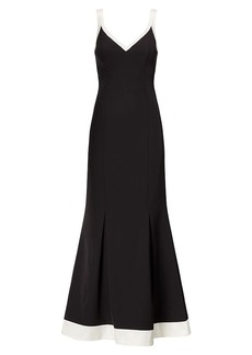 Color-Blocked Jersey Gown