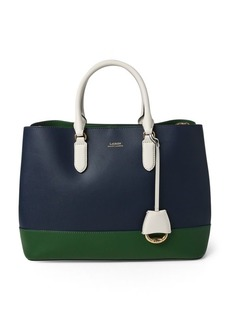 Ralph Lauren Color-Blocked Marcy Satchel