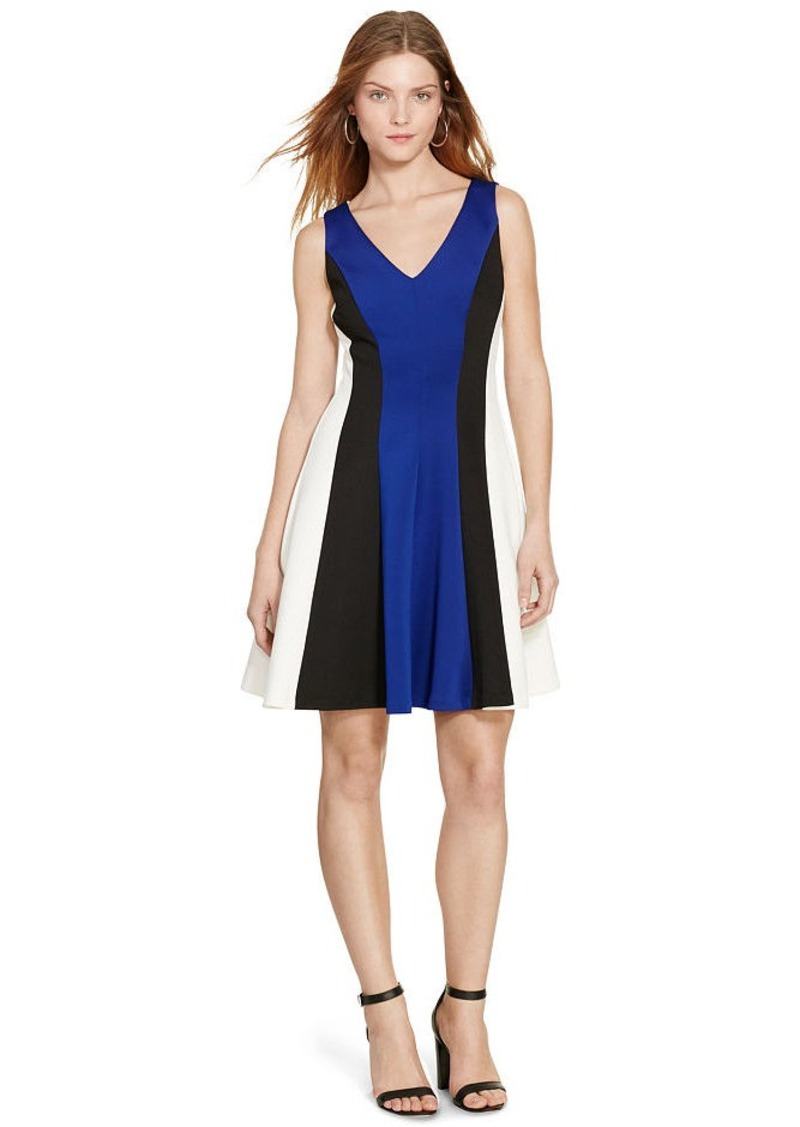Ralph Lauren Color-Blocked Neoprene Dress