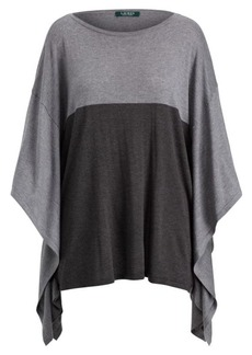 Ralph Lauren Color-Blocked Poncho Sweater