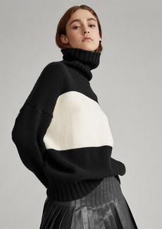Ralph Lauren Color-Blocked Wool Sweater