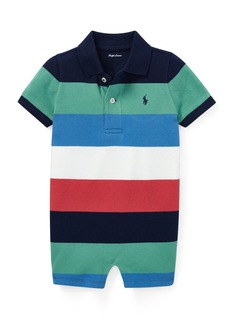 Ralph Lauren Colorblock Polo Playsuit  Size 3-18 Months