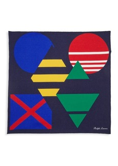 Ralph Lauren Colorblock Silk Pocket Square