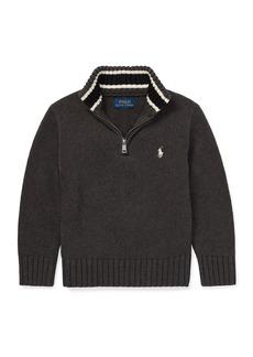 Ralph Lauren Combed Cotton Half-Zip Pullover Sweater