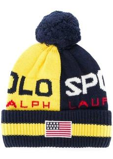 Ralph Lauren contrast logo beanie hat