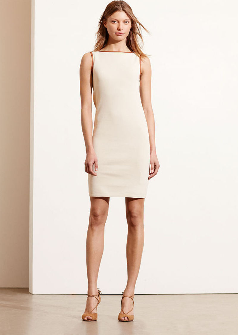 Ralph Lauren Contrast-Trim Ponte Dress