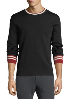 Ralph Lauren Contrast-Trim Wool Sweater