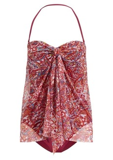 Ralph Lauren Convertible Paisley Swimsuit