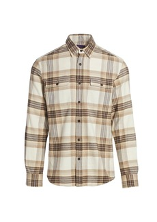 Ralph Lauren Cooper Elbow Patch Plaid Shirt