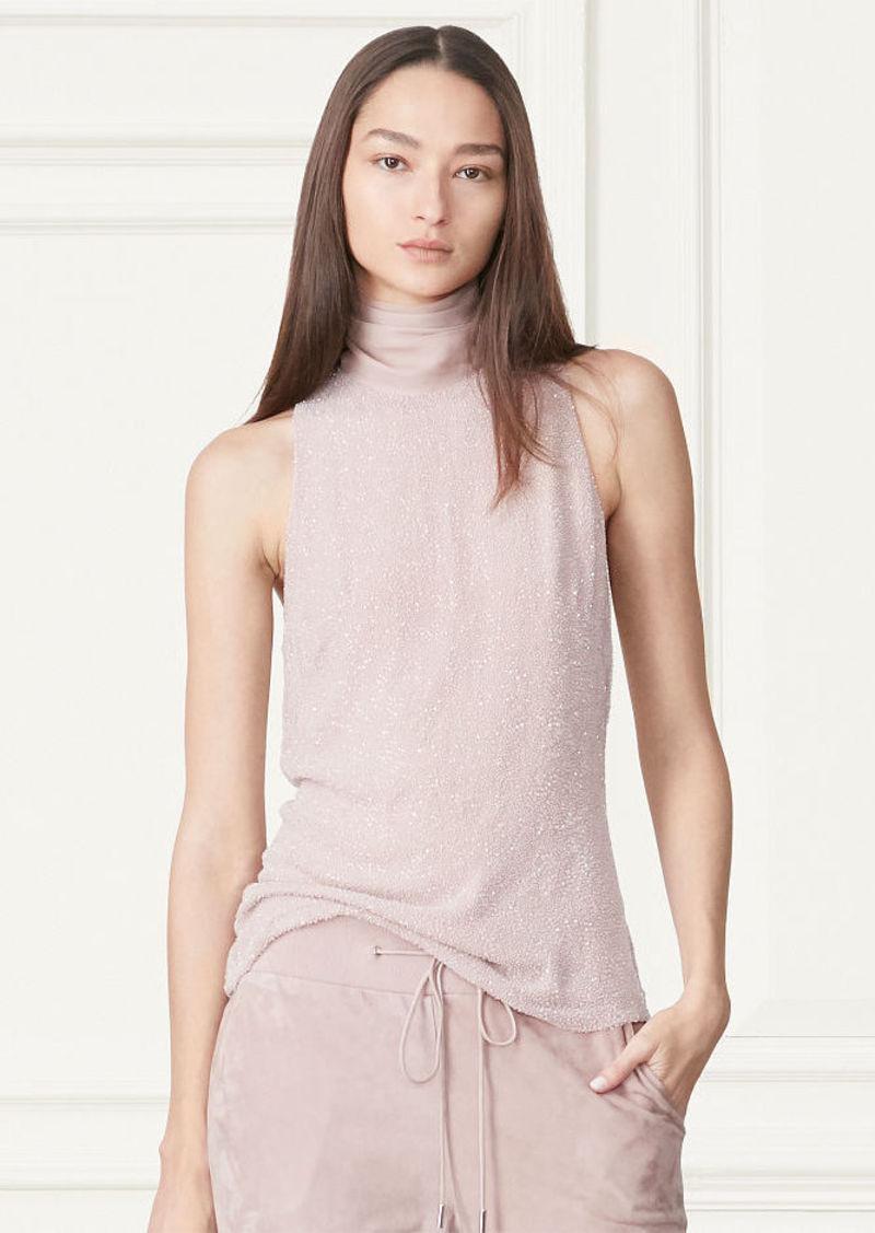 Ralph Lauren Corina Hand-Beaded Silk Top