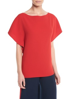 Ralph Lauren Corinna Round-Neck Short-Sleeve Top