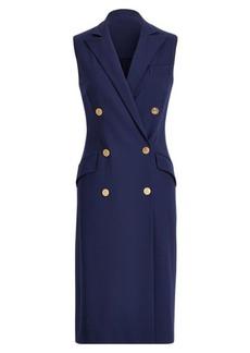 Corinne Sleeveless Wool Dress