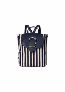 Ralph Lauren Cornwall Striped Canvas Flap Backpack